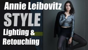 Annie Leibovitz Lighting/Retouching Tutorial -Free by sid-v
