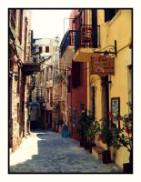 Streets of Chania by Csipesz