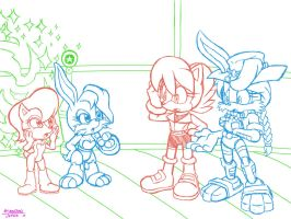 Sally and Bunnie Generations by NextGenProject