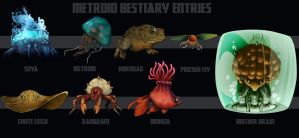 Metroid Bestiary entries by Deimos-Remus