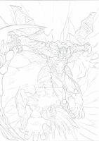 Rise of SPARDA!!!! (penciled) by AleczantenFB