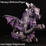 February's Birthstone Dragon by The-GoblinQueen