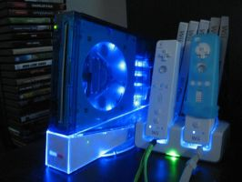Custom Blue Wii Case by darkmaster13