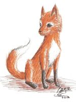 Inky color fox thing by sketchris