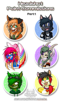 Headshot Point Commissions - Part1 by MoonyWings