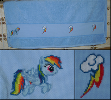 MLP: Rainbow Dash Towel by Fusainne
