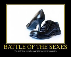 Battle of the Sexes Motivational Poster II by DaVinci41