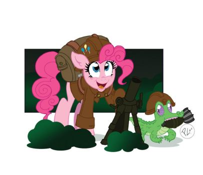 Military is Magic Pinkie Pie by GreenWiggly
