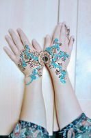 Blue henna by cydienne