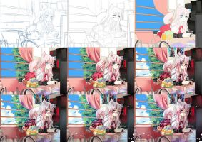 Step by Step of my Coloring by Furihime