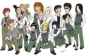 Naruto High Schoolers by KatChan00