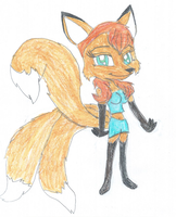 Sable the Three Tailed Vixen by KendraTheShinyEevee