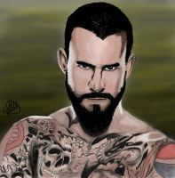 CM Punk digital painting by k4k7uz