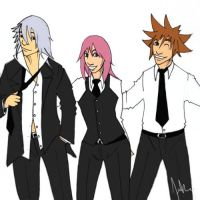 Out on the Town - kH Trio by blackbird-sing