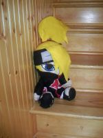 Huge Deidara Plays on Stairs by plushiewushie