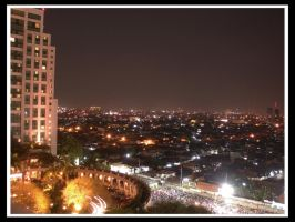 Surabaya at night by tehKOTAK