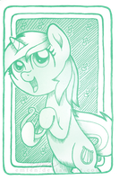 ACEO: MLP Lyra I by Emfen