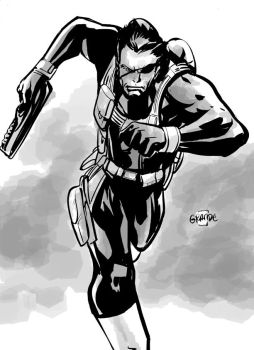Nick Fury by johnnymorbius
