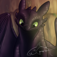 Satisfied Toothless by CavySpirit