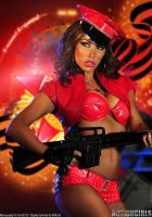 Actiongirl Kobe Kaige with M16 by ScottyJX