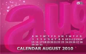 Wallpaper Calendar August 2010 by cheth