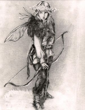sketch for Fae Huntress Moon Daughter 2 by SpiritedFool
