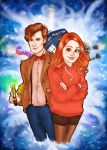 The Doctor and Amy by Kumu18