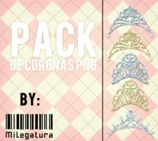 Pack de coronas Png by Milegatura