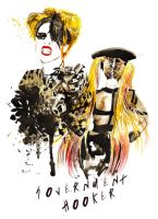 Lady Gaga Government Hooker by Katie-Woodger