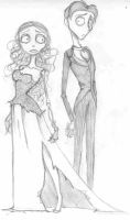 Corpse Bride and Victor by RayneSkellington