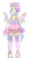 PASTELgirl ADOPTABLE [CLOSED] by amukArt