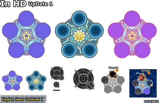Kingdom Hearts Unchained X medals wheel UpDate 1 by MASTERQ2