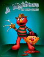 A Nightmare on Elmo St by malsem