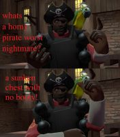 a dirty pirate joke (tumblr answer #13) by Spays