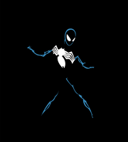 Spiderman Symbiote Vector by NightCrawling