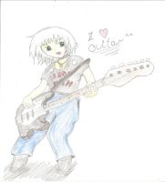 It's me and my guitar by KindiChan
