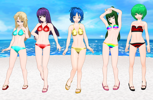 Demon King Daimao Girls Bikins by quamp