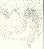 Jenova Rebirth -Uncoloured- by SonicWings