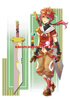 Red Blader Adoptable Auction [CLOSED] by Kaiapi