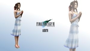 Render Wallpaper - Aerith by NomadFromHeLL