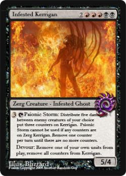 Infested Kerrigan Magic Card by Another-Random-Guy