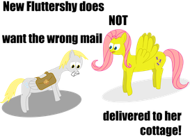 Fluttershy gets the wrong mail by killjoy1221