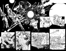 Green Lantern: New Guardians #15 pages 2-3 by AaronKuder