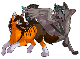 Pawed Pals by Keshi-Commish