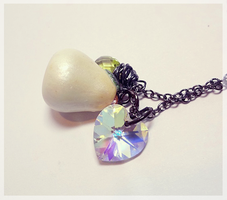 White Pear Necklace by WaterGleam