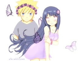 NaruHina Butterfly by eterneldarkness