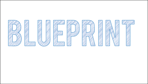 Blue Print Text Style Illustrator Action by KRONTM