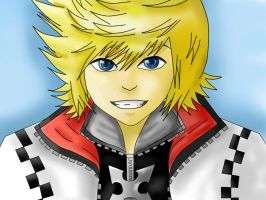 Roxas Colored by Akusreu