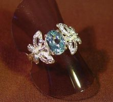 Butterfly Blue - ring by StephaniePride