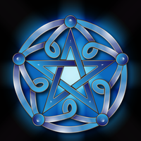 Pentacle in blue by IllustratorG